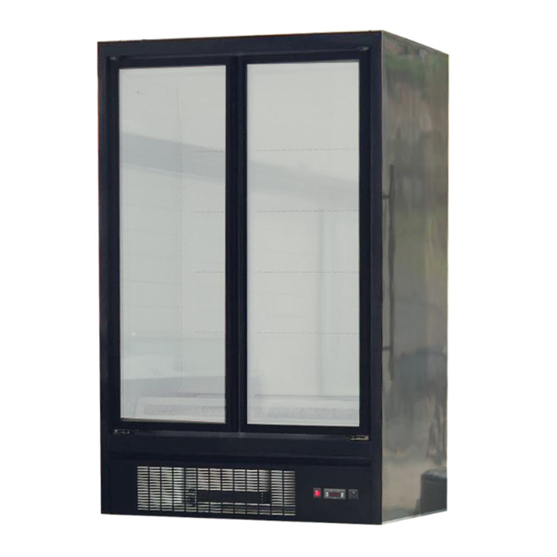 -18~ -22 2 3 Big Glass Door  Commercial Upright Deep Refrigerator Freezer for Restaurant supermarket LED Lighting