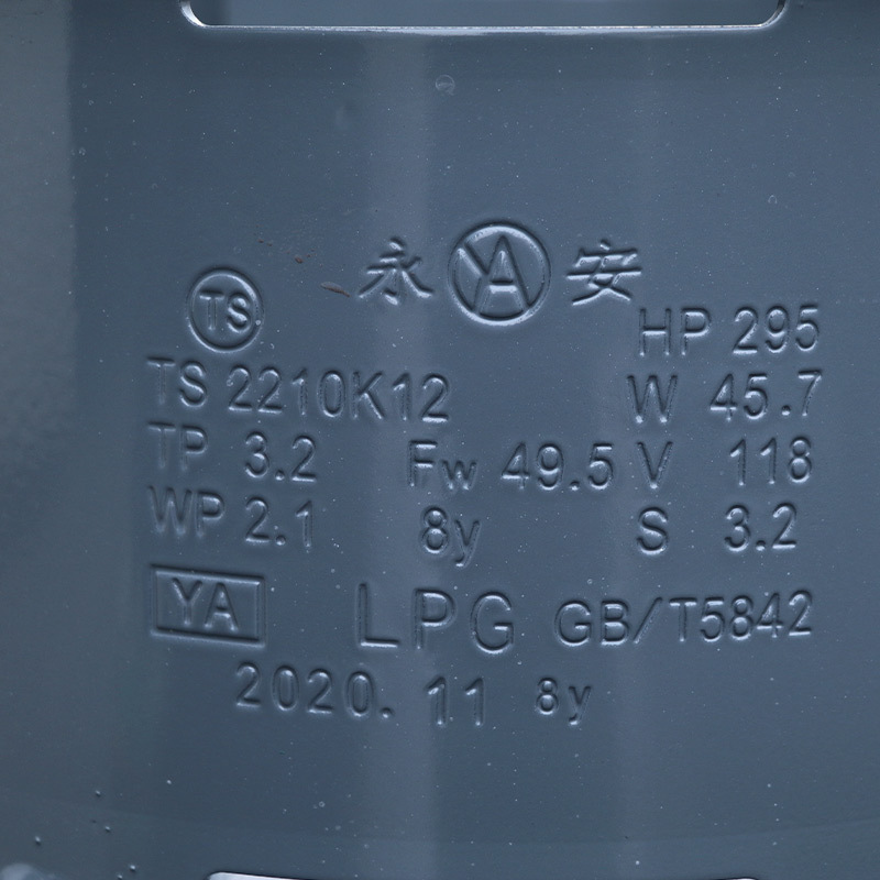 Industry Steel Cylinder 50kg Double valve Composite LPG Cylinder Kitchen Restaurant Cooking Commercial Propane Butane Gas Tank