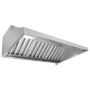 1m 2m 3m Stainless Steel  Wall mounted LED lighting Kitchen Range Hood Cover For Kitchen Chimney Filter
