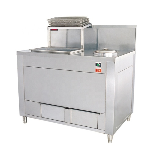 WYN-832 Stainless Steel Frying Chicken Meat Burger Potato Chips Mixing Shrink Wrapping Powder Coating Table Oiled Food KFC Equi