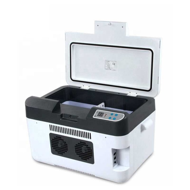 -3~-5 Degrees Below Zero,Heating 65 Degree, 25 L Dual-Use Cool/Heat Mini Car Refrigerators, Freezer