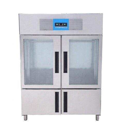 Stainless Steel 2 big door Commercial Refrigerators Fan Cooling Vertical Meat Hanging Freezer Refrigerator Cabinet