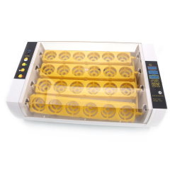 24 eggs Full Automatic Poultry Incubator with Egg Candle Injector Hatcher