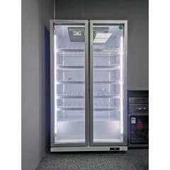 Discount price Glass Door Built in Refrigerator 2 Door Fridge Beverage Cooler