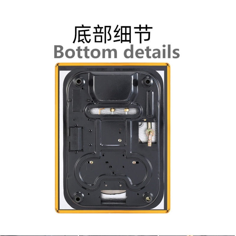 Natural gas liquefied petroleum gas New Single Stove Toughened Glass 9 Fire Holes Household Gas Cooker Stove Kitchen