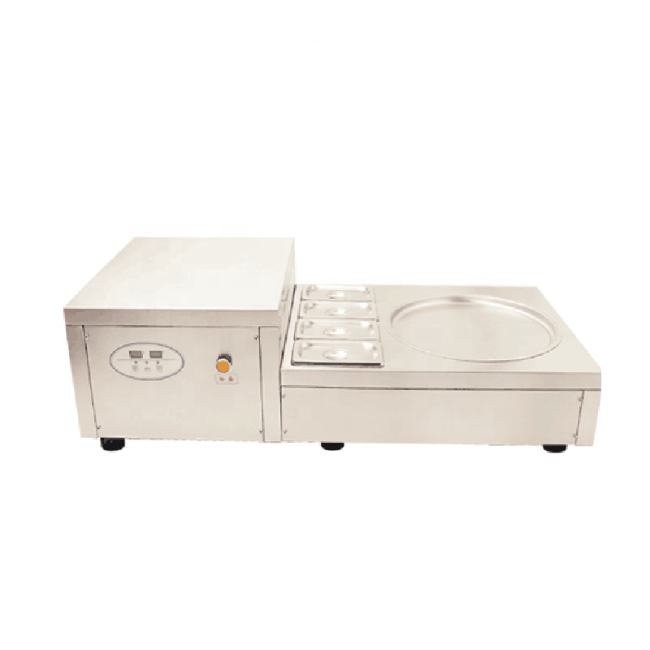 35cm Round Pan Table Top Fried Ice Cream Frying Fryer Machine