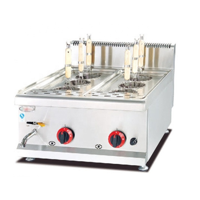 LPG Gas Stainless Steel 6 Cooking Vegetable Breakfast Cooking Machine Pasta Noodles Boiler