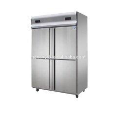 4 Door Fan cooling 2 temperature 2-8 C -12 -18C Vertical Cold Freezer Refrigerator Kitchen Cabinet Showcase