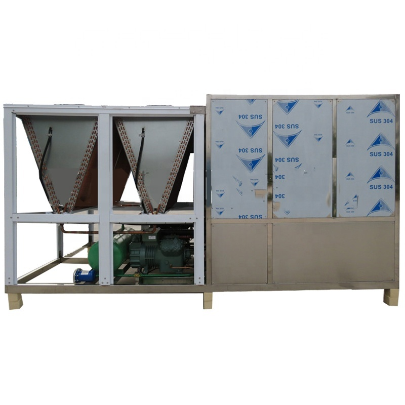 High Production Industrial Ice Packing Maker Moulds Air Cooled Plate Ice Block Making Machine for Fish/Seafood/Meat