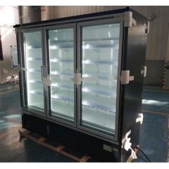 Hot Sale 3 4 doors  -16~-18C Commercial 3 Big Glass Door Vertical Upright Fridge Showcase Freezer