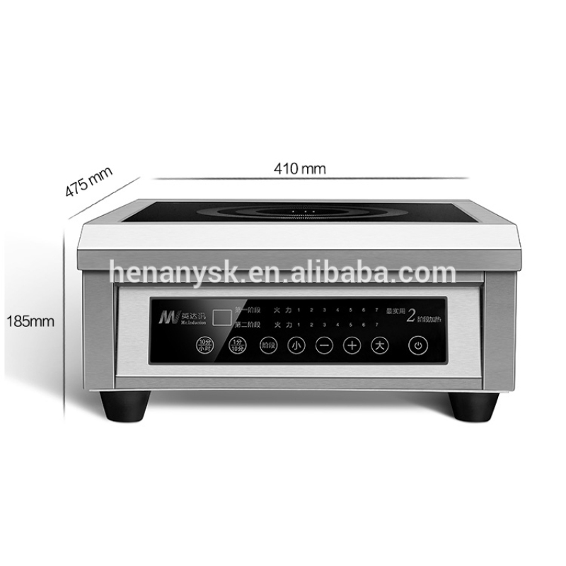 6000W Commercial Flat Electromagnetic Stove Kitchen Induction Cooker Electric 2 Steps Heating Stove For Soup
