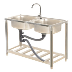 1 Sink 2 Sinks Detachable Disassemble One Stop Purchasing Home Kitchen Sink Stainless Steel