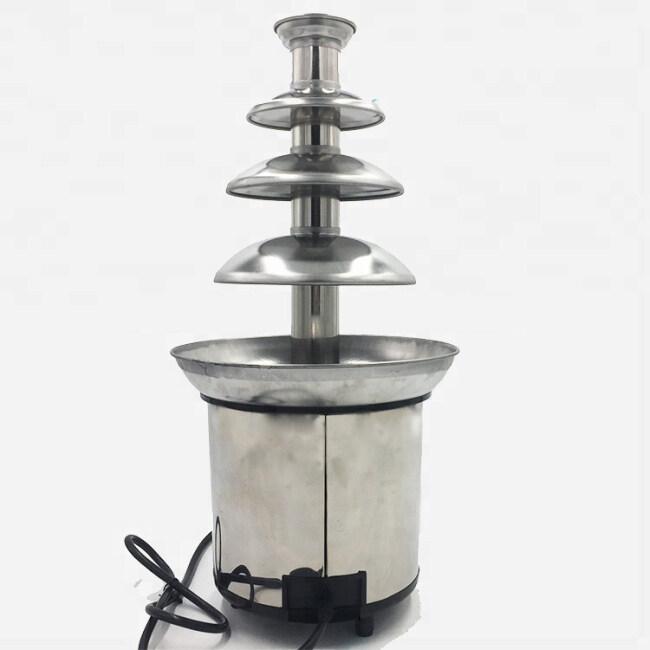4 Layer 4-Tier Family Chocolate Fuente Machine Electric Chocolate Fountain Chocolate Heating Waterfall Machine