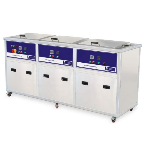 3 Tanks Industrial Ultrasonic Cleaner For Automatic Industrial and Medical Application