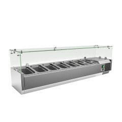 1200mm 1800mm Pizza Salad Bar Fridge Salad BarSalad Display Refrigerator Fridge Keep fresh Cooler different pan