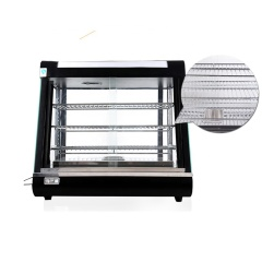 RY-LC601 Commercial Stainless Steel 3-Layers Food Warmer Display Cooked Food Egg Tart Cake Display Cabinet Warming Showcase