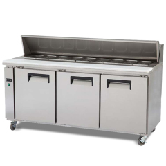 High Quality Commercial Can Be Customized Kitchen Equipment for Restaurant Stainless Steel Salad Refrigerated Pizza Counter