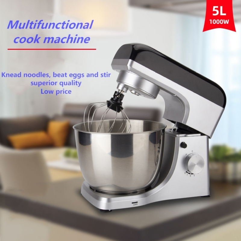 5L Household Cook Dough Kneading Machine Stand Food Mixers Bakery Equipment 110v / 220v Egg Beater