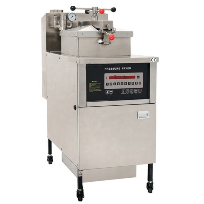 Commercial Gas Pressure Fryer ( Digital Panel) Chicken Fryers Built-in Oil Filter System Oil Pump