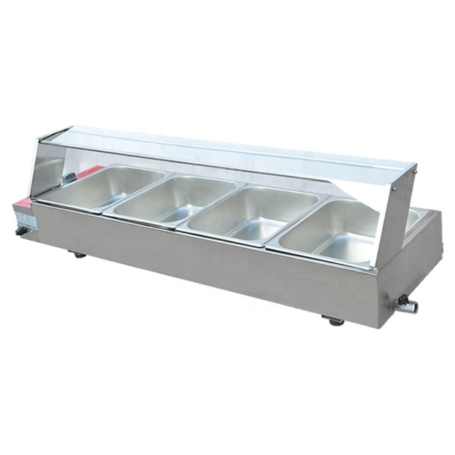 Benchtop Equipment Buffet Stainless Steel Bain Marie Food Warmer with 4 Pots