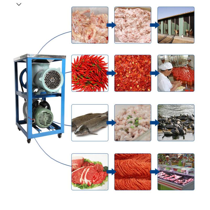 #62  800-1000kg/H Commercial Chicken Fish Bone Pork Meat Grinder
