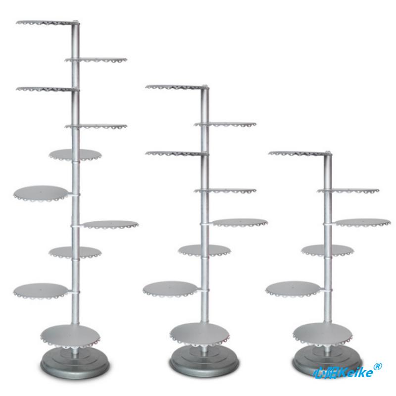 6-10 Layers Tree Shape Baking Utensils Aluminum Alloy Single Column Cake Rack