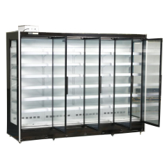 Supermarket Cold Drinks Cooling Fridge Multi Deck Glass Door Cooler with Remote Compressor