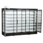 Supermarket Cold Drinks Cooling Fridge Multi Deck Glass Door Cooler with Remote Compressor