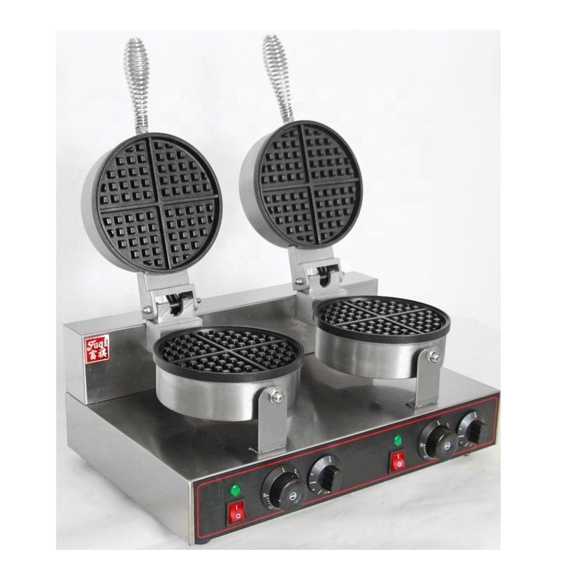 Waffle Iron 2 Kitchen Waffle Baking Mold Toaster Newly Timer Commercial Waffle Baker Maker Baking Pastry Tools For Cakes