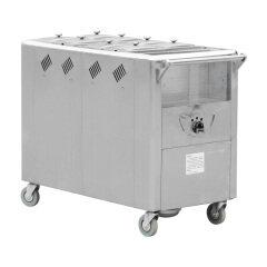 4 6 8 pans Stainless Steel Chafing Dish Food Plate Rice Avantco Eletric Soup Hong Kong Porridge Soup Warmer Cart Bain Marie