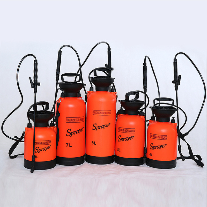 3L 5L 8L  Hand-held Household Cleaning Wash Plastic Watering Pot Garden Watering Flower Hand Pressure Watering Pot Air Sprayer