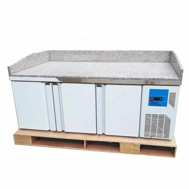 Marble 3 Door / 2 Drawer + 2door Stainless Steel Fruit Vegetable Fresh Fridge Keeping Storage Freezer Work Bench Salad Counter