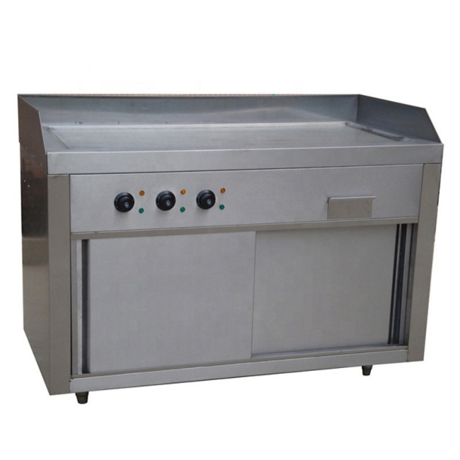 1.2m 1.5m Commercial Japan type flat Vertical Electric Grill with Cabinet