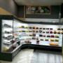 2500mm *2 Designer open Deli showcase chiller/Supermarket display refrigerator/corner Upright cabinet fridge shop