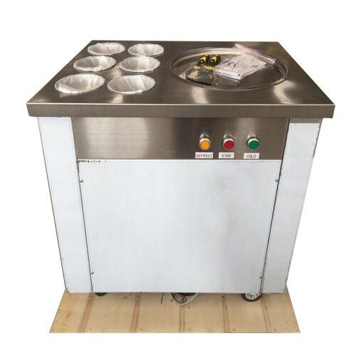 8-10L/H 1pan Ice Pan Fryer Rolling Fried Yogurt Frying Fried Ice Cream Roll Machine Roller Maker