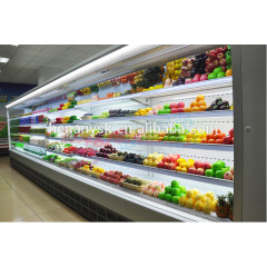 New Intelligent temp control can customized Supermarket vertical Fruit air curtain cabinet, Wind cold Storage display cabinet