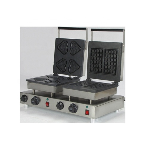 2pcs Gift Shape Mini Waffle Machine Commercial Waffle Toaster Making Maker Machine WITH TIMER