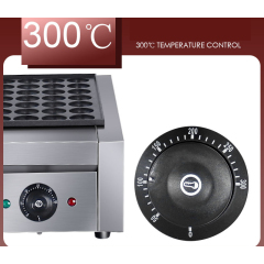 Eh-766 Electric Octopus Fish Balls Maker Commercial Temp Control Japanese Takoyaki Plate Electric Fish Grill Machine