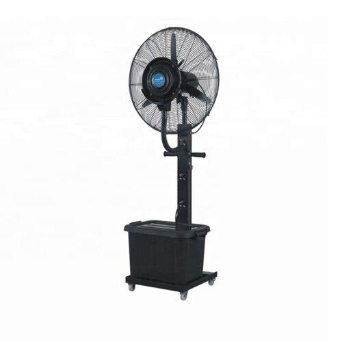 Industrial Bottle Air To Heat Exchanger Cooler Water Spray Mist Fan With Atomizer Stand