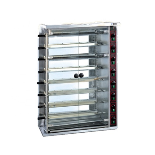RY-JGT8P High-Capacity 40 Pcs 8 Layers Automatic Gas Rotary Chicken Oven Roast Chicken Roasted Duck Gas Grill