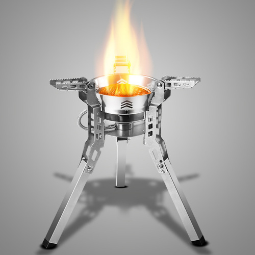 Outdoor Portable Gas Stove Camping High Power Large Support Folding Strong Firepower Furnace Boiling Water Cooking