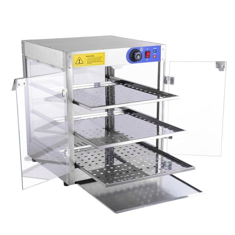 Free Shipping Electric Heating  Countertop 3 Tier Pizza & Food Warmer food warming tools