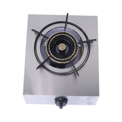 Wholesale Domestic Gas Stove Fierce Fire Desk Type Lpg Ng Stainless Steel Panel Single Stove Household