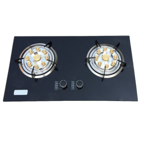 LPG NG Wholesale Household Gas Stove Desktop Embedded Double Stove Cooker Copper Fire Cover Flameout Protection