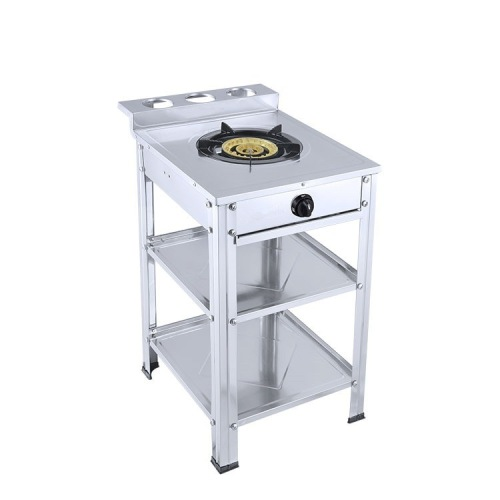 Commercial Gas Range Portable Wok Cooker LPG Catering Burner Single Stove With Storage Hole Vertical Gas Stove Large Firepower