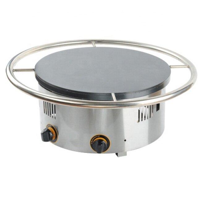 Commercial Diameter 45cm Electric/Gas Rotary Pancake Machine Hotcake Pancake Stove Bread Griddle Cake Frying Machine
