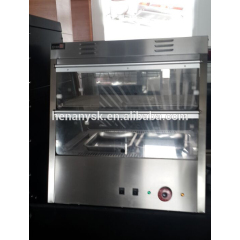 2 Layer 4 or 6 Pans Electric Double Layer Glass Food Warmer Warming Display Showcase CE Approved Heating Warming Cabinet
