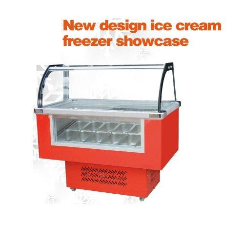 full container shipment  10 Tank  Ice Cream Glass Icecream Machinery Freezers Display Cabinet Freezer Showcase