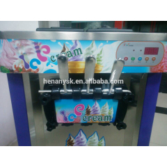 IS-Q-L22A Three-Colour Desktop Ice Cream Machinery Coffee Shop Equipment Ice Cream Machine Soft Ice Machine