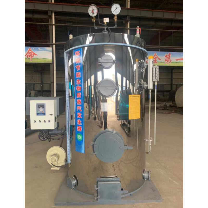 200Kg/h LPG / Wood Heating Systems Diesel Fire Hot Steel Steam Boiler For Food Processing Machinery Vertical Gas/Oil Generator